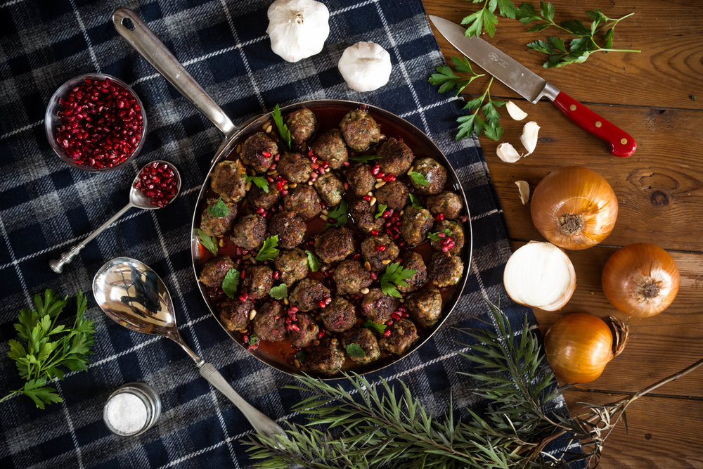 Moroccan Lamb Meatballs with Pomegranate Seeds - Since Ingrid Bergman walked into Humphrey Bogart's Moroccan