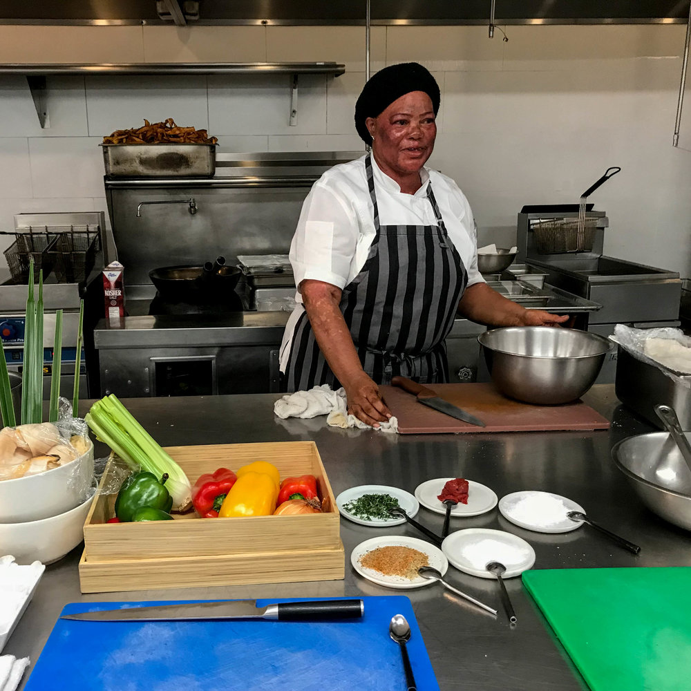 mama in the KITCHEN - Spend an hour learning to prepare and cook conch fritters with Mama, Parrot Cay's native chef and local cuisine expert. Following the hands-on demonstration, sit down in the Lotus restaurant for a Caribbean inspired tasting.