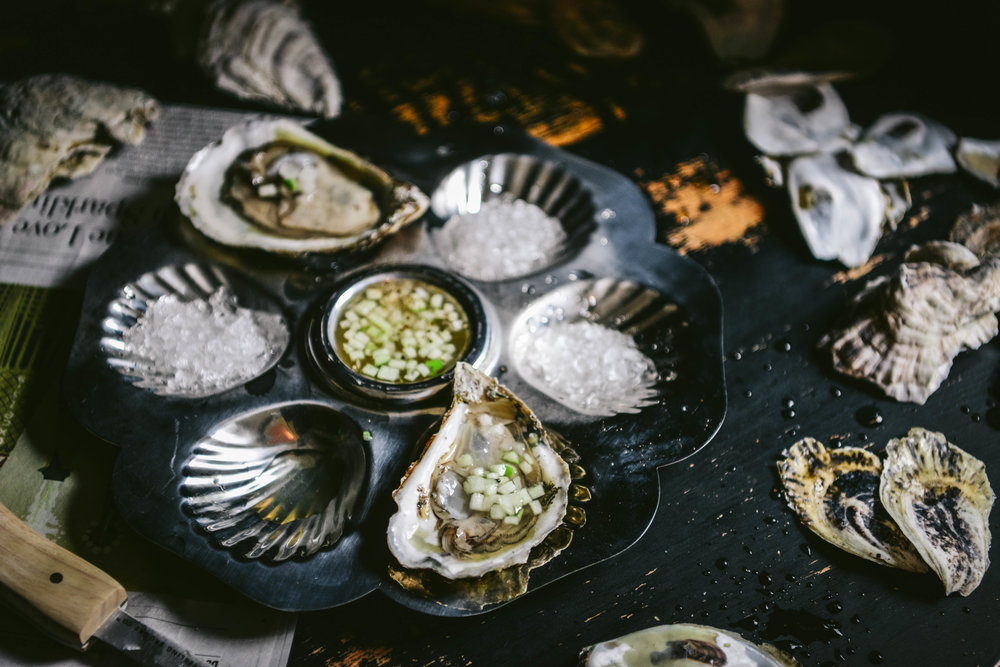 Mignoette - mi·gnon·ette | \ ˌmin-yə-ˈnetˌminyəˈnet/An 18th century word with French origin meaning small & delicate that today refers to a sauce typically made with vinegar, pepper, and herbs and served especially with oysters.