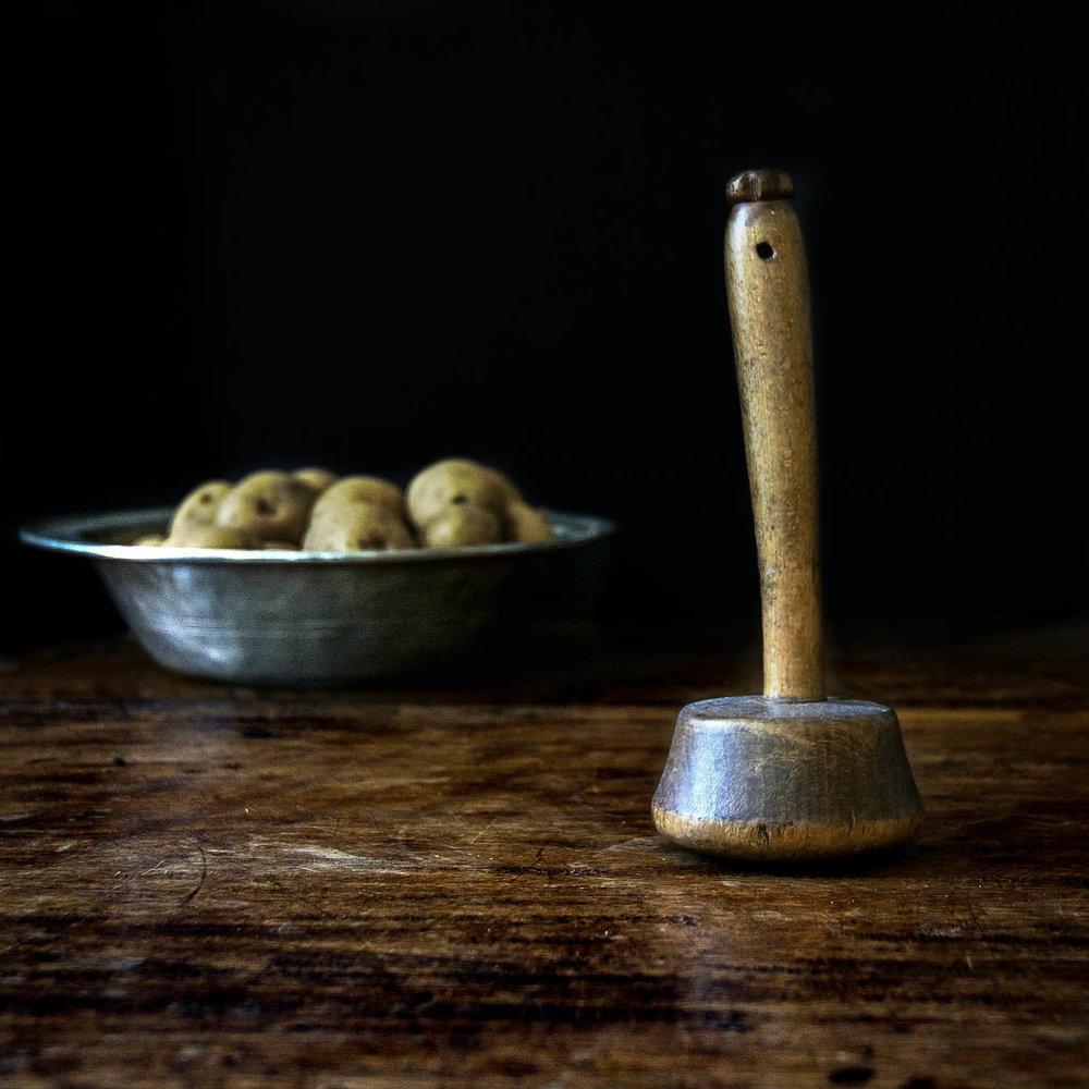 Antique Irish Potato Masher, $85