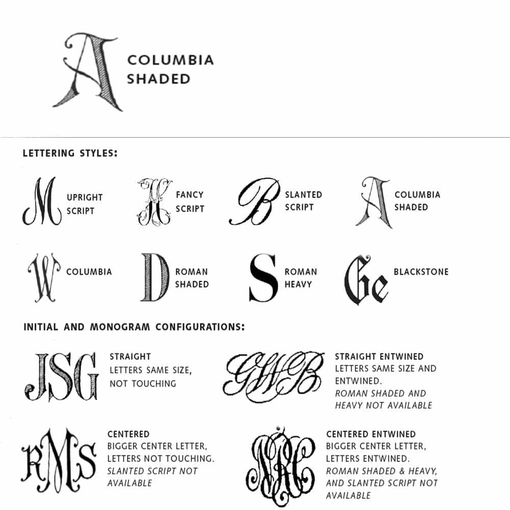 Columbia Shaded Script Hand Engraving — Weston Table