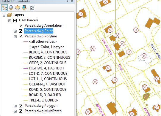 AutoCAD Data in ESRI Desktop