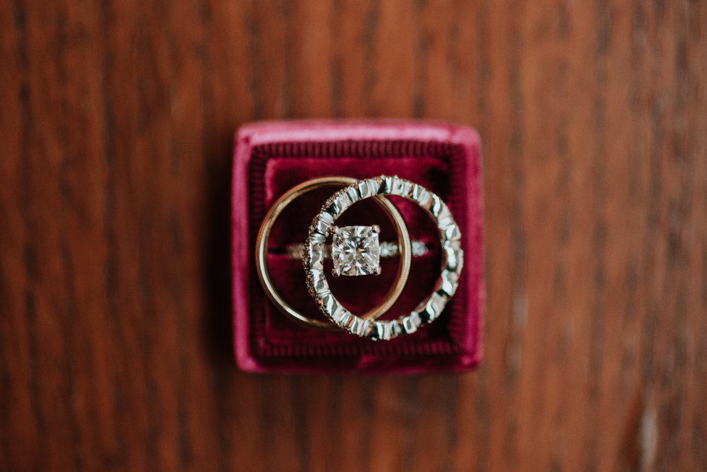 Ring Details at The Harvard Club Manhattan Winter Wedding