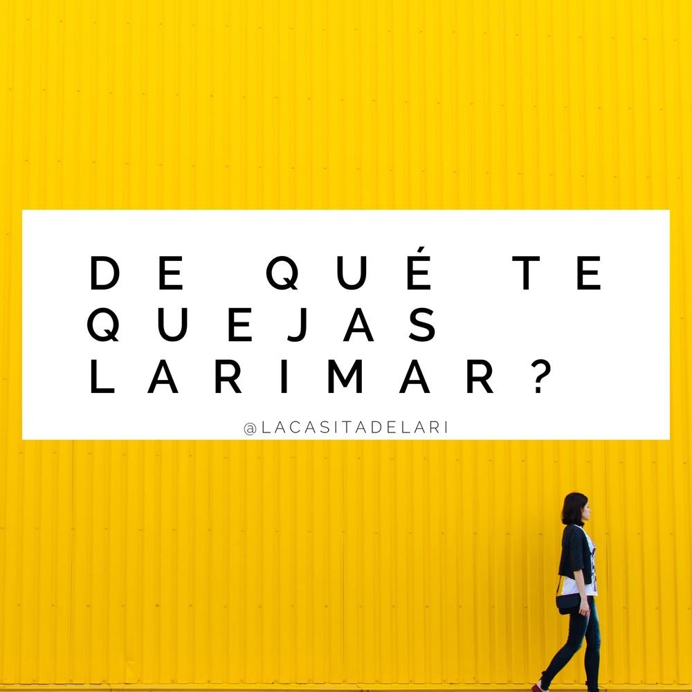 """""""De que te quejas Larimar?"""" by Larimar Fiallo"""