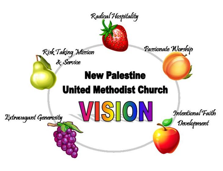 New Palestine United Methodist Church... Where people are encouraged, grace is given, and lives are being transformed through the power of the Holy Spirit.