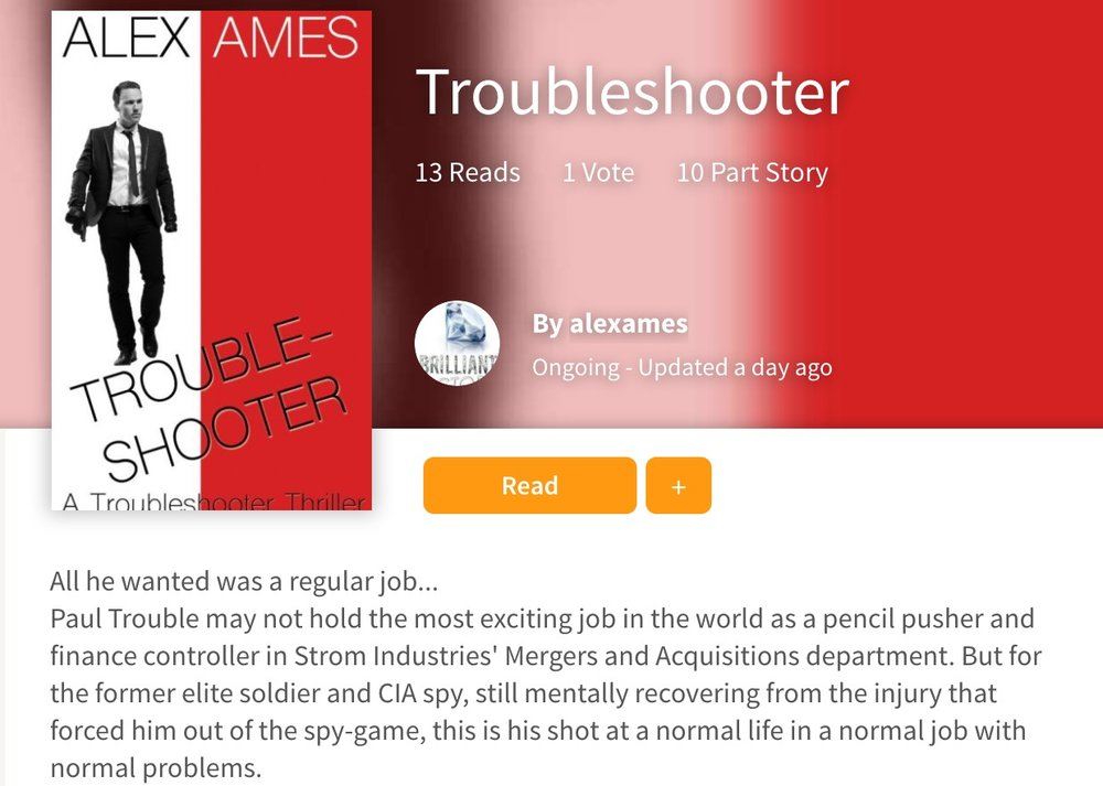 Alex Ames Troubleshooter at Wattpad