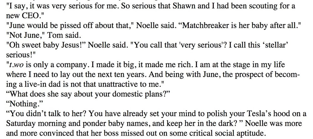 "Excerpt ""RomCom2"" (Working Title)"