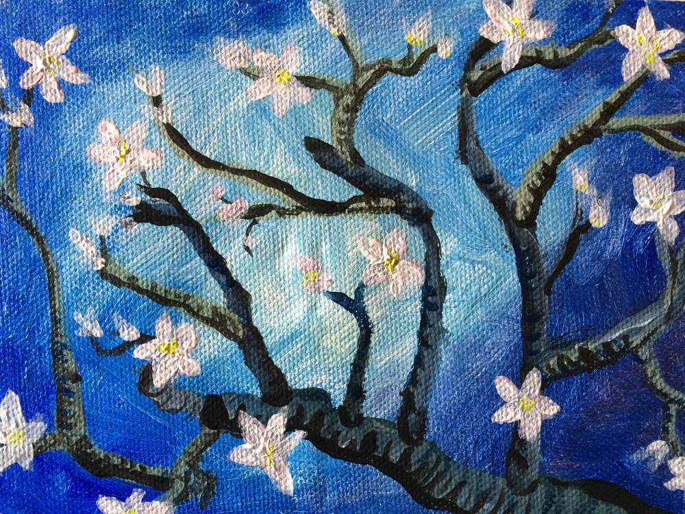 Almond Blossoms.  Click here for more info on the class.