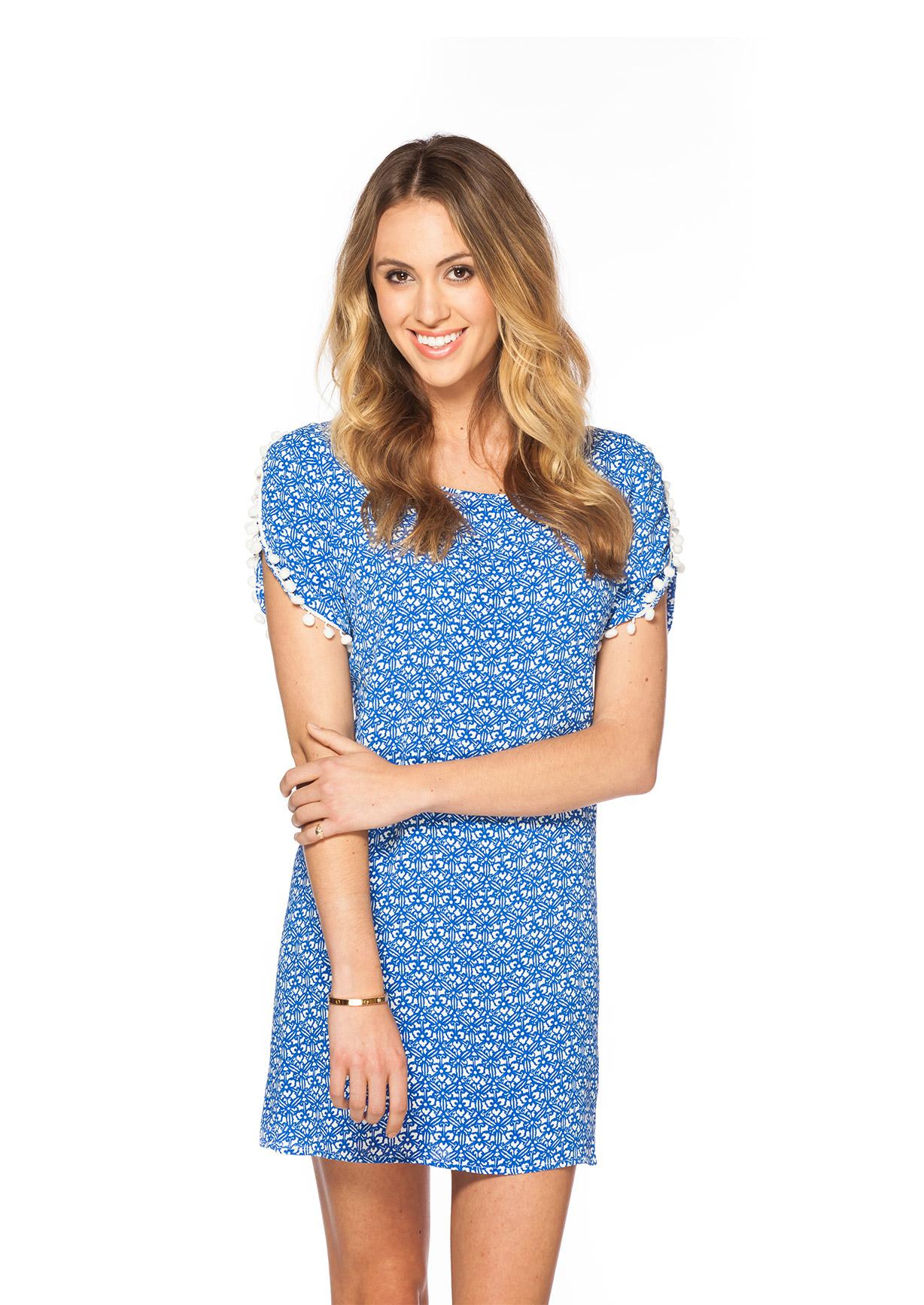 0e7eb35bcb78 BARDOT DRESS Blue   White — MELISSA LAUREN