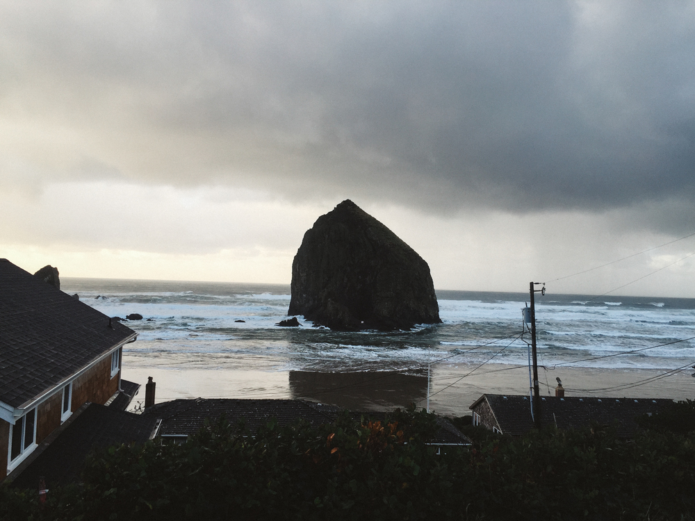 House with a view. Cannon Beach, Oregon.
