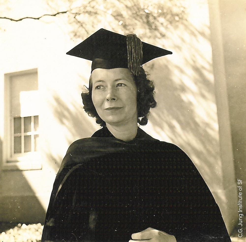 Kay in her graduation robes, 1942.
