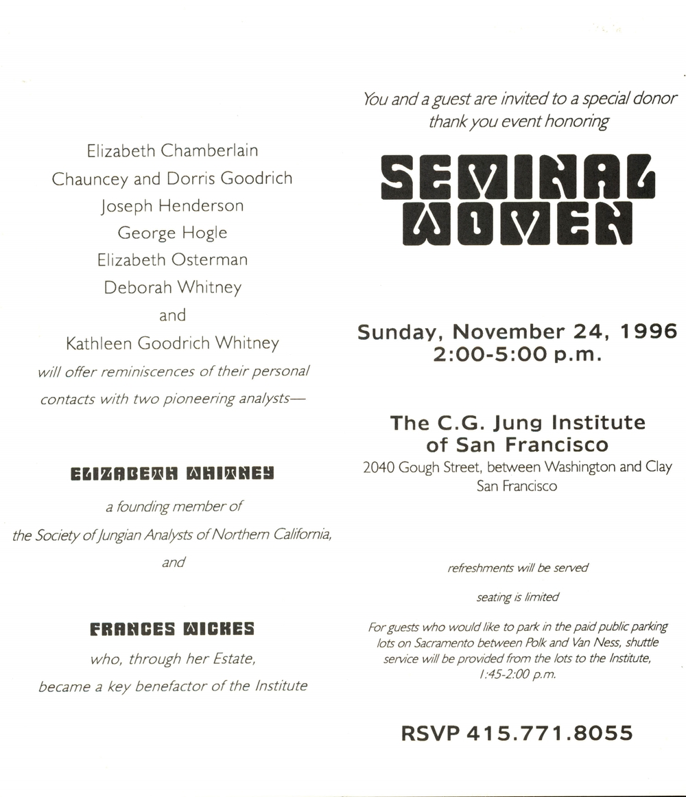 """Seminal Women"" donor event (1996)"