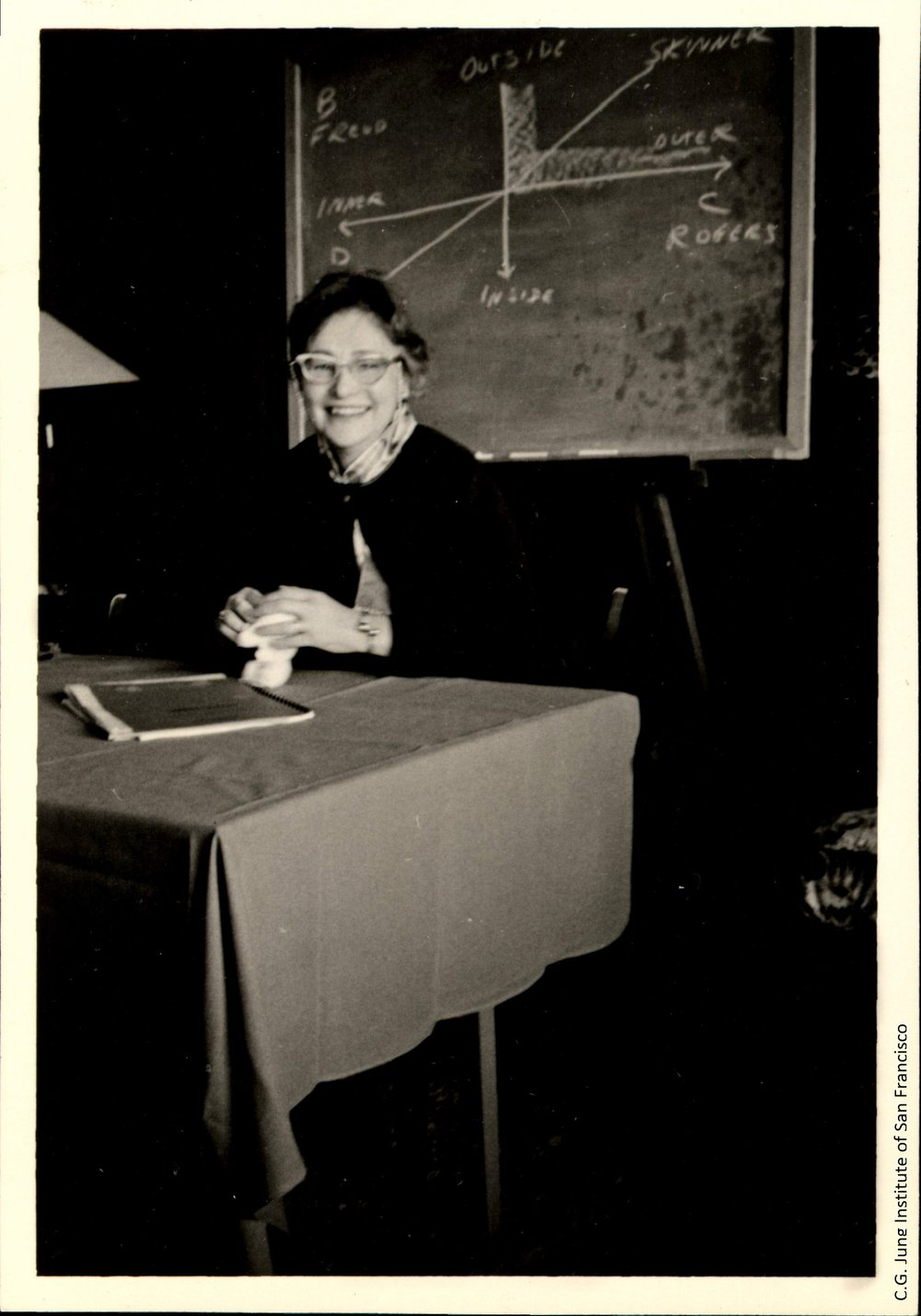 Clare Thompson presenting at North-South Conference, 1958