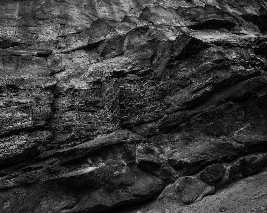 Sandstone detail in Gorge Metro Park