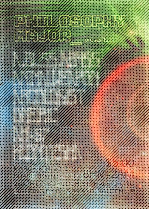 3.8.12 A.Bliss.Abyss. Animalweapon. Arcologist. Oneiric. AK-87. Klonteska. Shakedown Street, Raleigh NC. Facebook Event