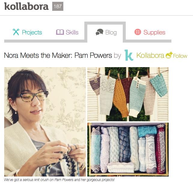 Nora Meets the Maker: Pam Powers by Kollabora   Blog post   Knitting   Kollabora 2013-11-11 17-21-59