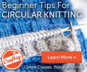 Learn all the skills necessary for knitting in the round with my Craftsy class--use this link for a 50% discount!