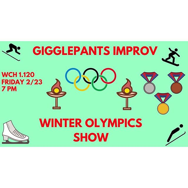 Did you miss us? Don't worry! We've got the hottest olympic event happening THIS FRIDAY @ 7 in WCH 1.120!! It's our next show!!! Come hang out with us this friday!