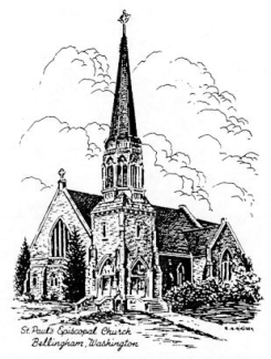 The first service at St. Paul's was held on May 10, 1885