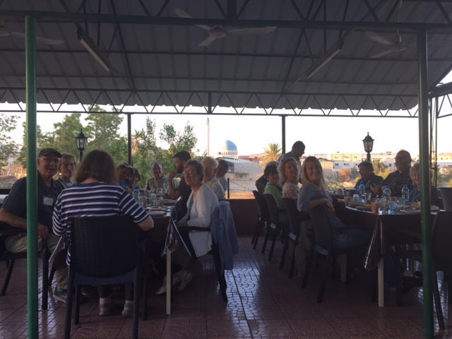 We had a nice but late lunch after crossing into Palestine/Israel via the King Hussein/Allenby bridge yesterday