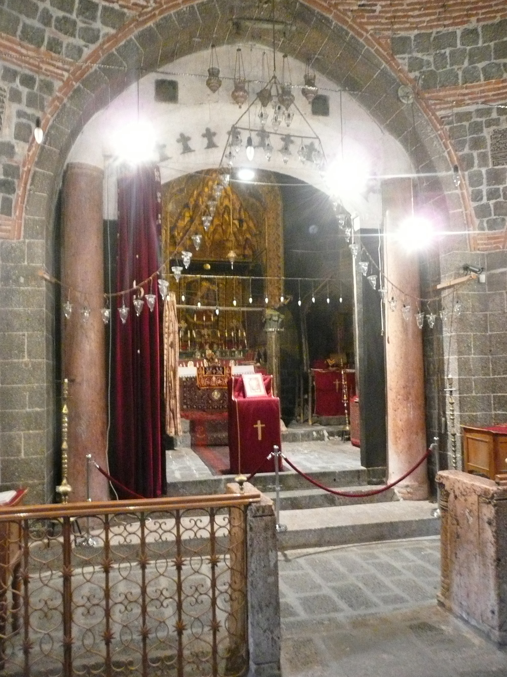 The altar at the Syrian Orthodox Church of St. Mary, Dyarbakir