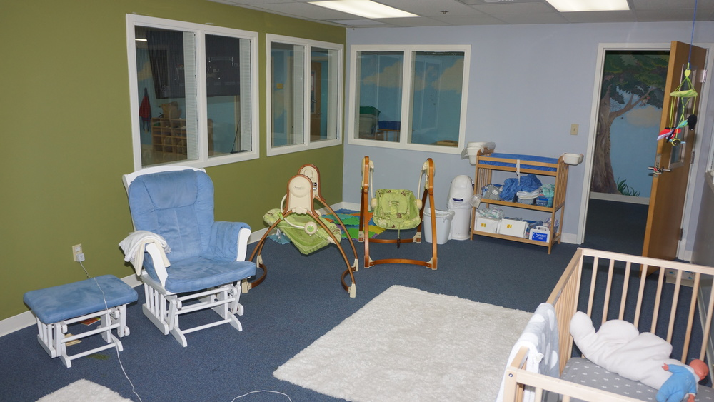 The napping area of St. Paul's nursery