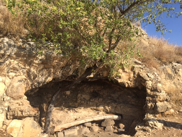 A cave that overlooks the Sea of Galilee