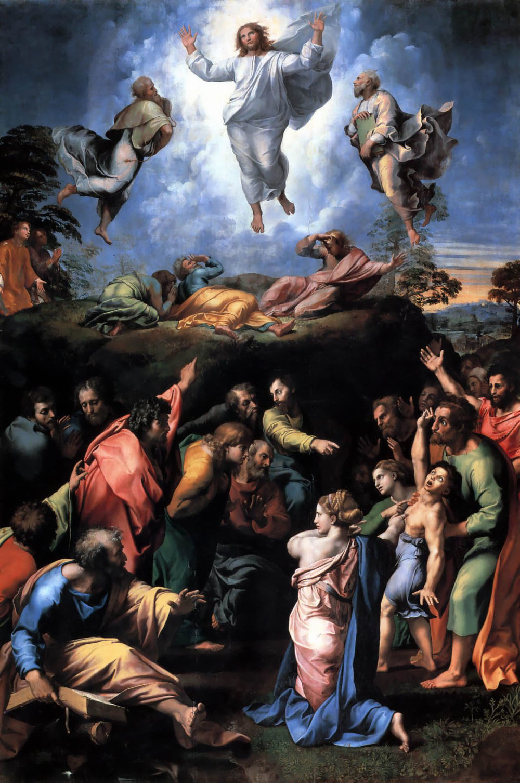 Raphael, The Transfiguration  https://upload.wikimedia.org/wikipedia/commons/5/51/Transfiguration_Raphael.jpg