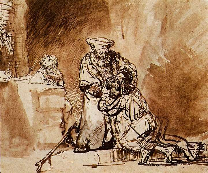 Rembrandt Harmensz. van Rijn 1606 – 1669 The Return of the Prodigal Son (1642) - from Wikimedia Commons
