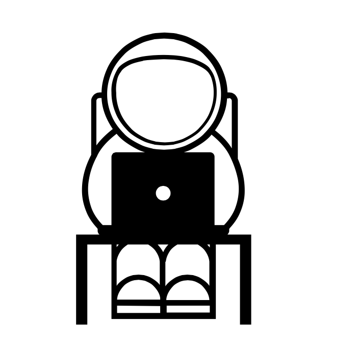astronaut icon on laptop