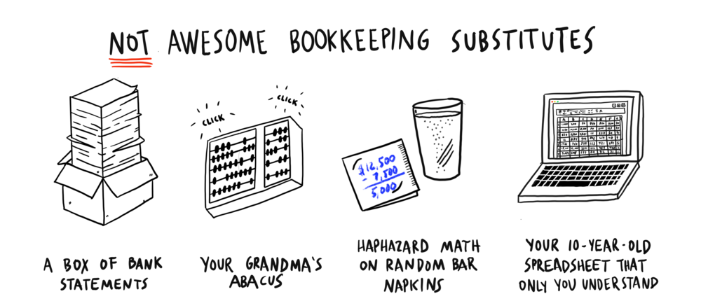 Bad bookkeeping substitutes cartoon by The Hell Yeah Group