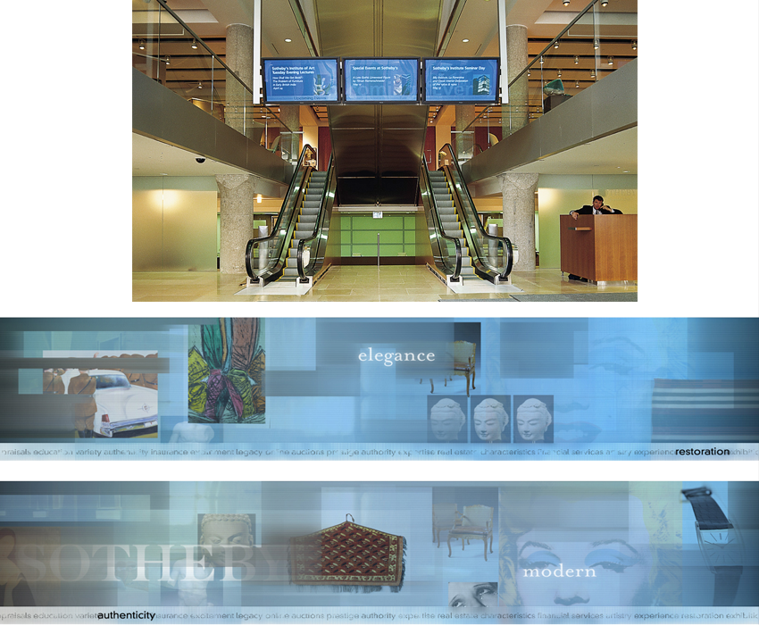 For the newly expanded New York headquarters, Gigi oversaw all directional signage and implemented a custom three-screen multi-media display system for the entrance lobby.