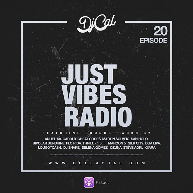 """Check out an all new episode of my podcast  #justvibesradio """"LINK IN BIO"""" features Music by: @anuel_2blea, @cheatcodes, @djsnake and @nuthrill and many more.. #workout #podcast #feelgoodmusic #thisbangs #edm #dancehall #latinpop"""