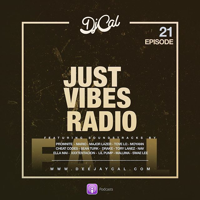 """Check out an all new episode of my podcast  #justvibesradio """"LINK IN BIO"""" features Music by: @jackandjack , @nav , @majorlazer and @torylanez and many more.. #workout #podcast #feelgoodmusic #thisbangs #edm #dancehall #trap"""