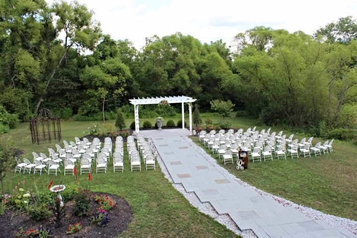 The wedding garden pergola
