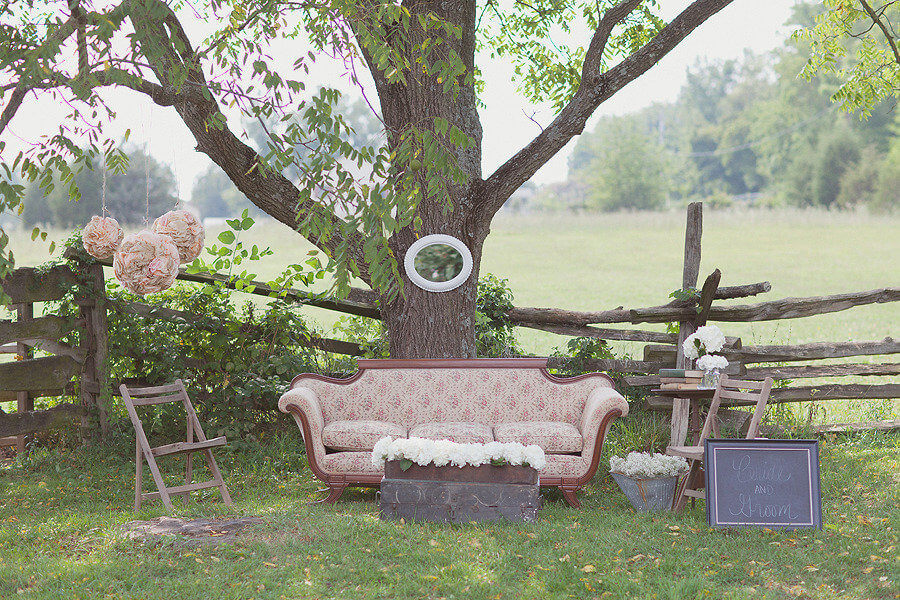 Copy of Vintage couch and props outside the horse pasture
