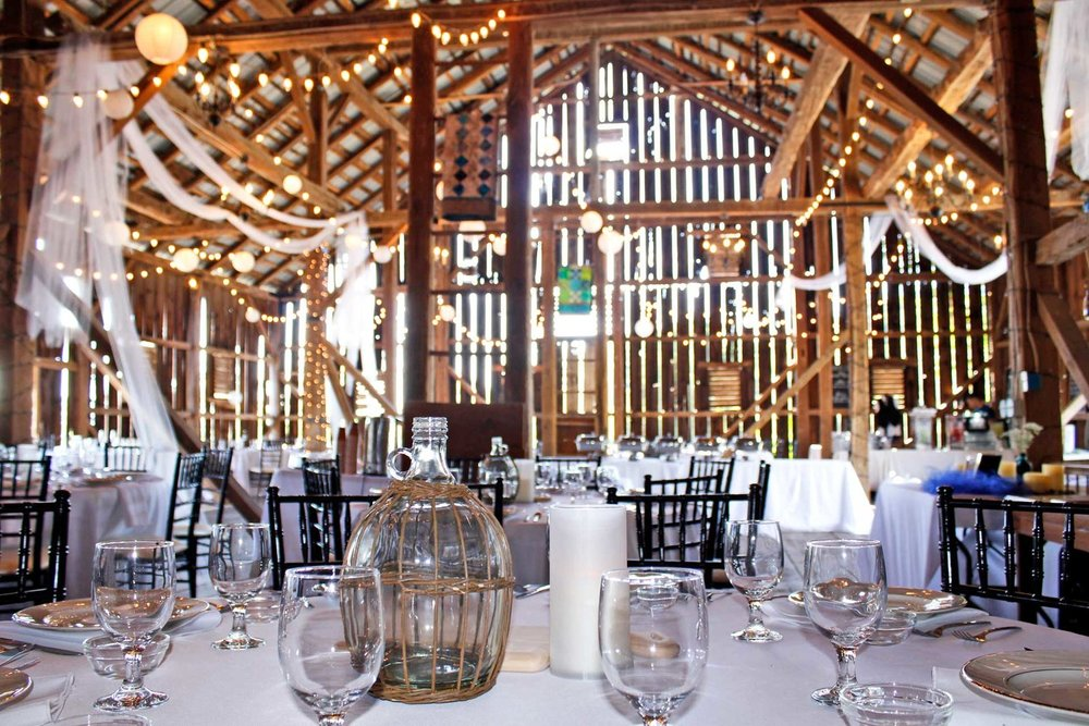 A Rustic  & Historic Event Venue - Capacity: 140 GuestsAvailability: May - OctoberOur Historic Barn Event Venue can seat 140 guests.  The Historic Barn was constructed between 1810 and 1820. The Historic Barn was later utilized as a Union Army field hospital during the Battle of Gettysburg. The barn has two bathrooms and one of the two bathrooms is handicap accessible. We offer Historic Barn event packages that include the tables and chairs for your event, access to decorate the day of the event, on site parking for your guests, and access to the main kitchen inside the Farmhouse building.