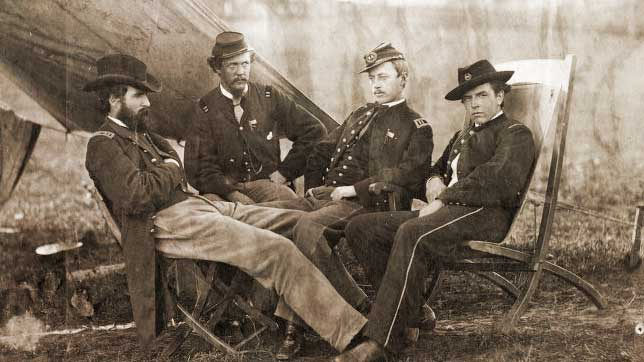 Union soldiers in a Union camp