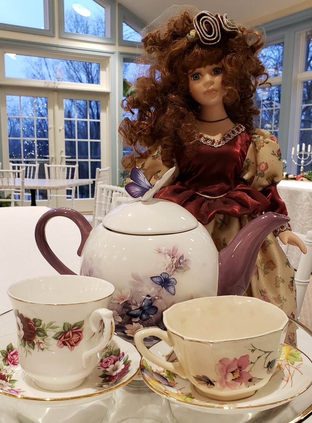 Victorian Valentine Tea for Tea Lovers - Three course tea in the Solarium