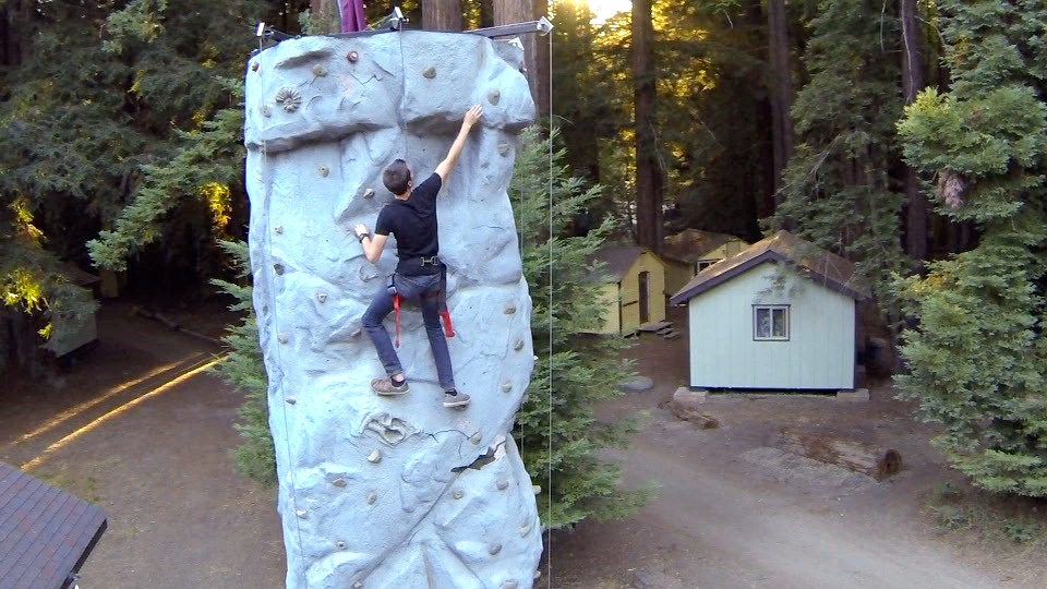 Rock climbing venue in the redwoods