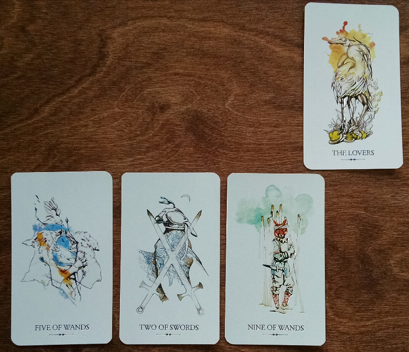 This is the Linestrider Tarot - isn't it beautiful?