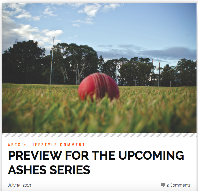 NORTHSIDER NEWSPAPER 2013                  http://thenorthsider.com.au/preview-for-the-upcoming-ashes-series/