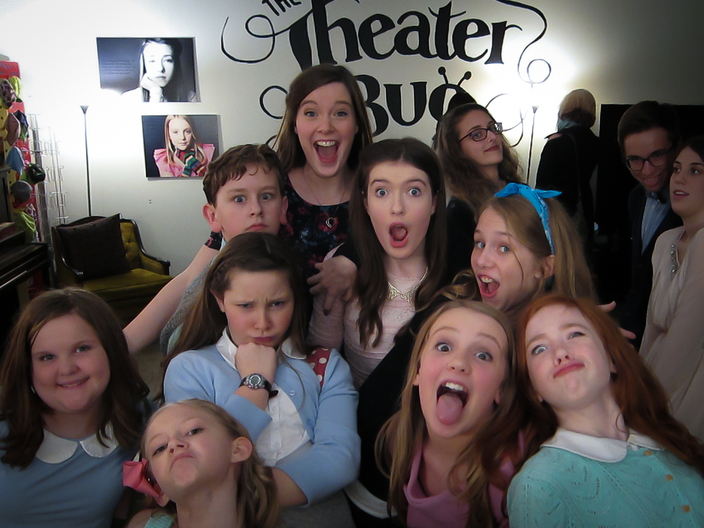 With students at The Theater Bug.