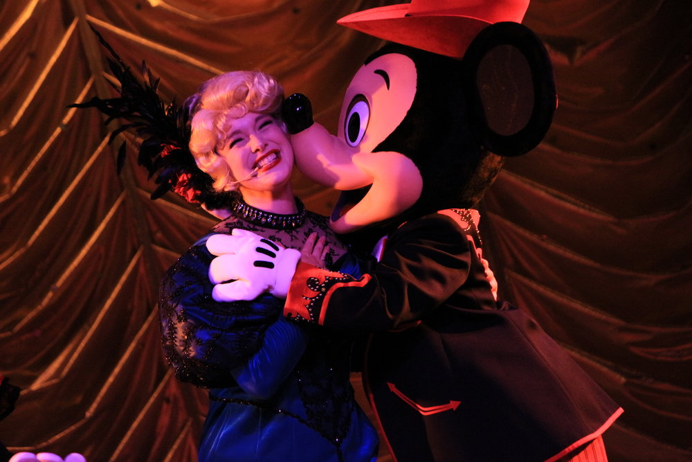 As Slue Foot Sue in  Mickey and Company  at the Diamond Horseshoe in Tokyo Disneyland.