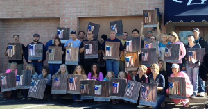 American Flag painting in honor of Veterans Day