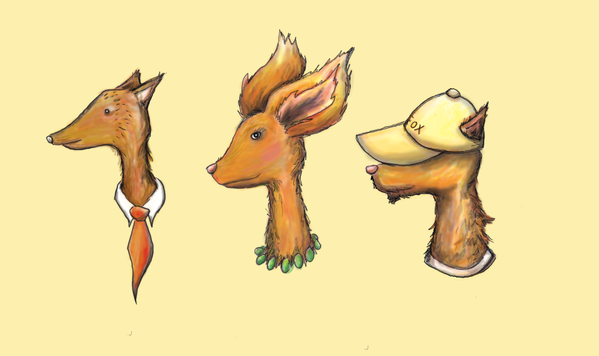 Family of 'Fancy Fox' Illustrations