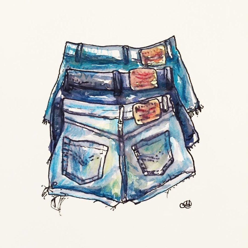 """Ombre denim"" - sold"