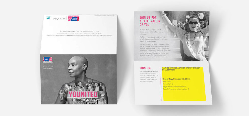 Customizable Event Invitation | American Cancer Society | Making Strides Against Breast Cancer Campaign 2018