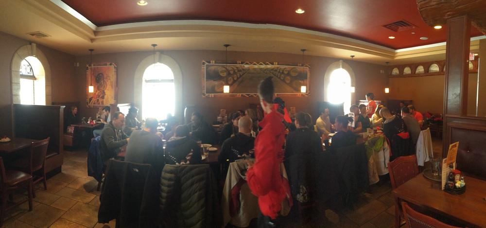 Wingman Brunch - taking over the restaurant !!