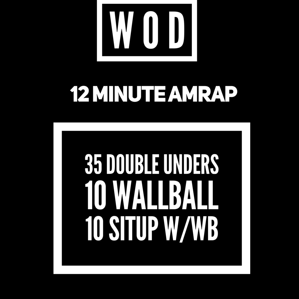 L3:: perfect wod for a heavier wallball or the occasional 40# medball mixed in
